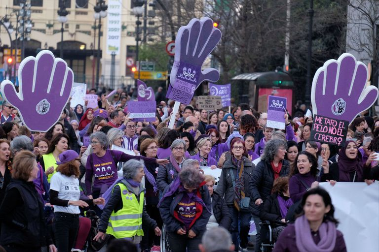 La protesta en Valencia