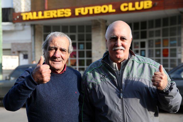 """Roberto """"Cacho"""" Gonzalo y Jorge Peta, los primeros entrenadores de Emiliano Martínez, en Mar del Plata"""