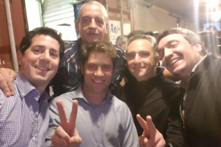 Horacio Pietragalla, en una imagen de campaña con Wado De Pedro, Axel Kicillof, Andrés Larroque y Máximo Kirchner