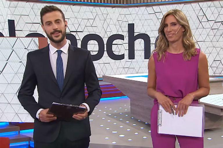 Diego Leuco y Luciana Geuna, la dupla del nuevo Telenoche