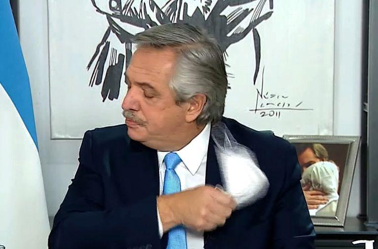 Alberto Fernández, en los últimos anuncios
