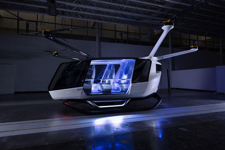 Skai es un vehículo eléctrico que utiliza celdas de hidrógeno para aumentar su capacidad de carga y vuelo