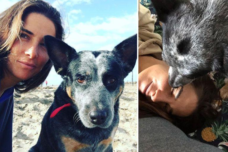 """""""Inseparables"""": Juana Viale suele mostrarse en las redes junto a su perra Tota, su fiel compañera de aventuras"""