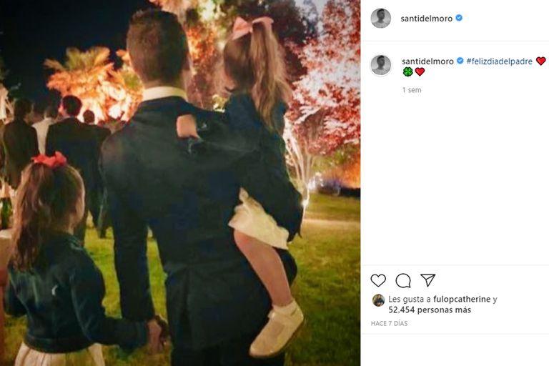 Santiago del Moro celebró el Día del Padre junto a sus dos hijas