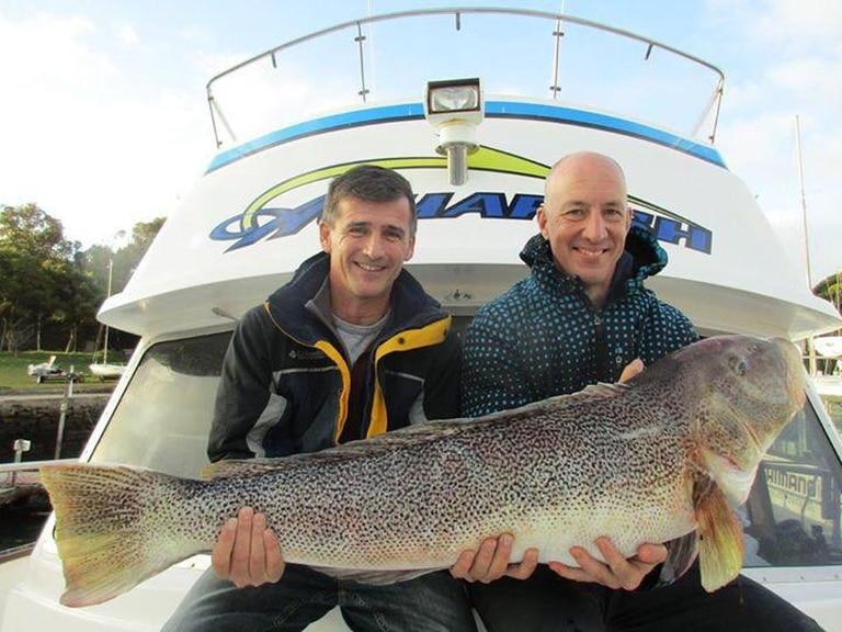 La pesca fue una de sus actividades preferidas en Mar del Plata.