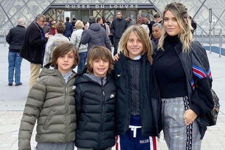 Maxi López dijo que el corte de pelo de sus hijos es una maldad de Wanda Nara