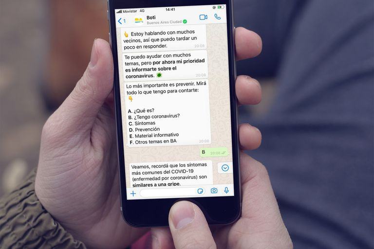 El servicio de respuestas automáticas desarrollado por el gobierno de Buenos Aires fue destacado por el responsable de WhatsApp tras alcanzar su récord de conversaciones en abril