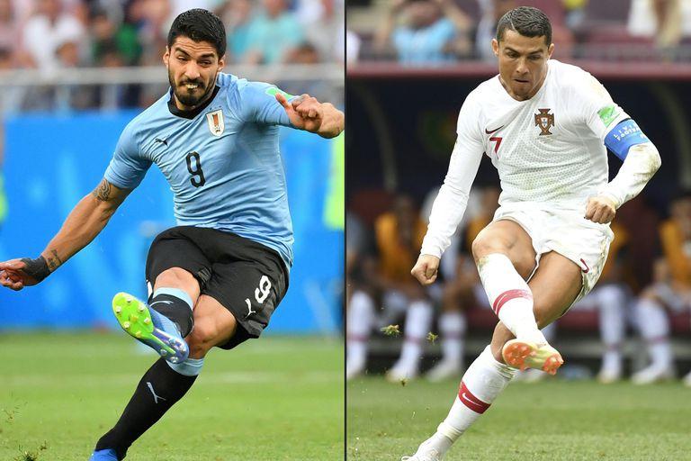 Suárez y Ronaldo buscarán darle el pase a su selección cuando se enfrenten en Sochi por los octavos de final de Rusia 2018