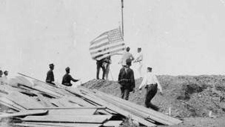 La bandera de EE.UU. se izó por primera vez en Guantánamo en 1898 tras la guerra de Cuba contra España