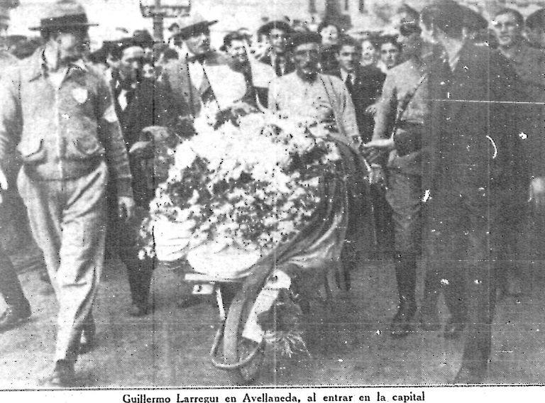 La foto publicada en La Nación en 1936.