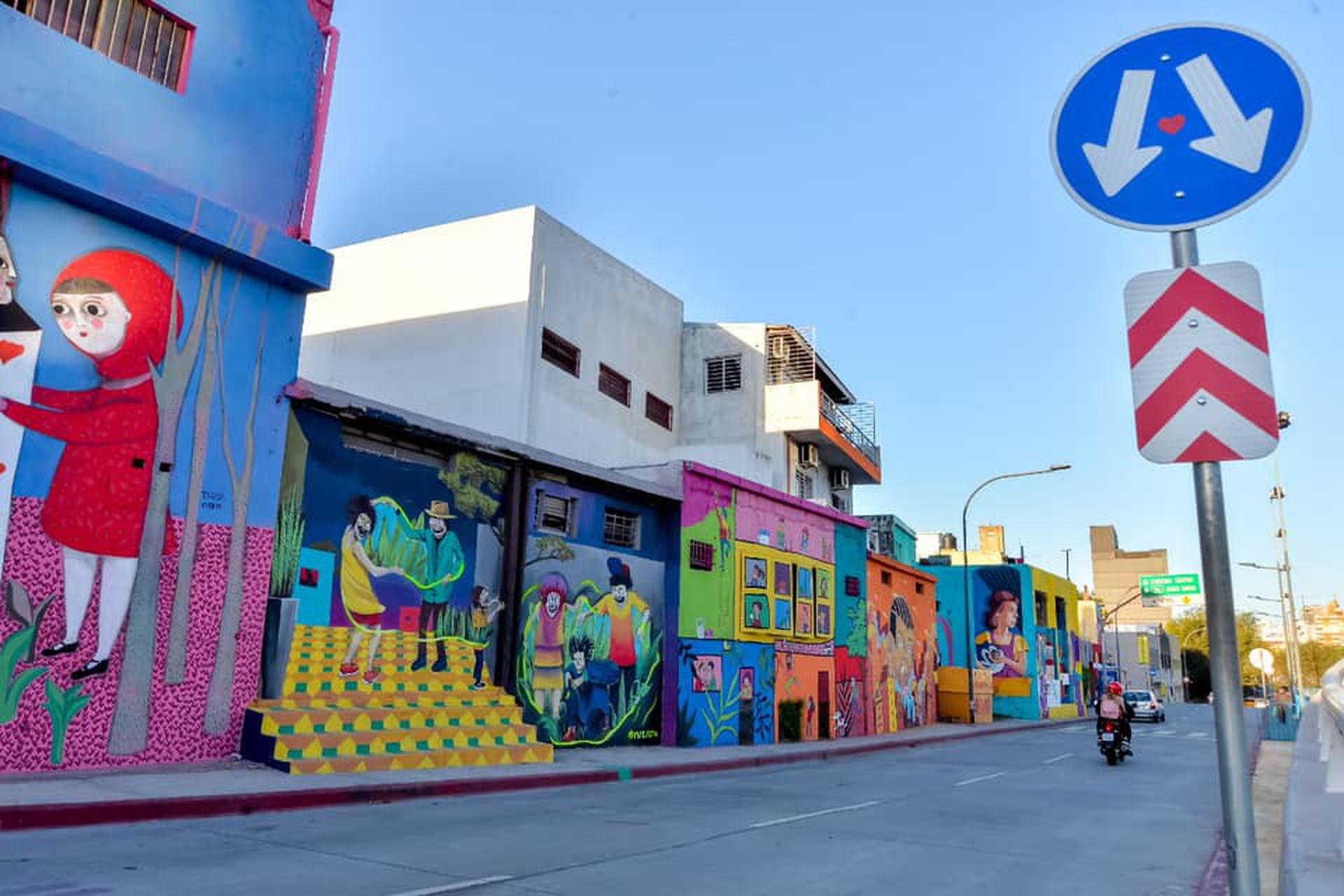 Los murales están relacionados con el concepto de vecindario y ciudad