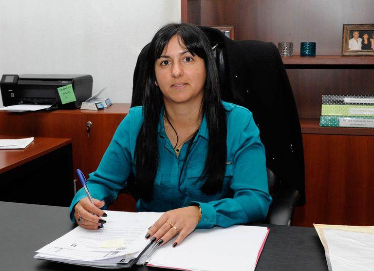 Noelia Correa, en su despacho de la Municipalidad de Malvinas Argentinas