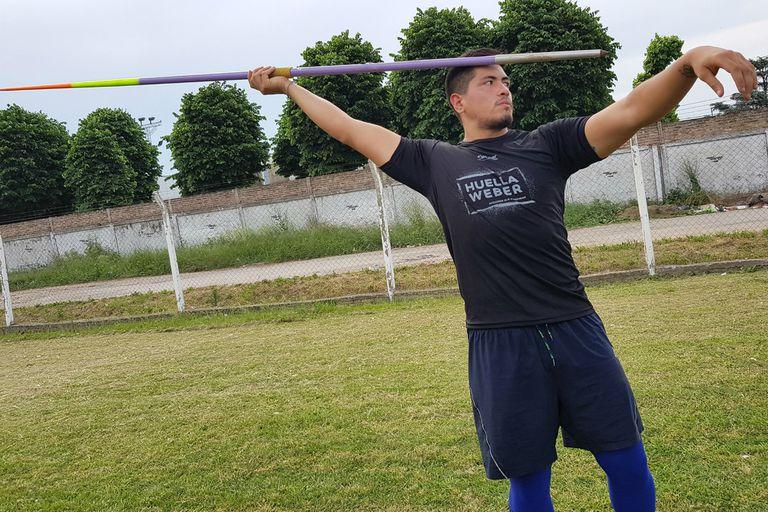 Toledo está en la Argentina y en enero volverá a Finlandia, donde se entrena con el mejor coach de jabalina del mundo