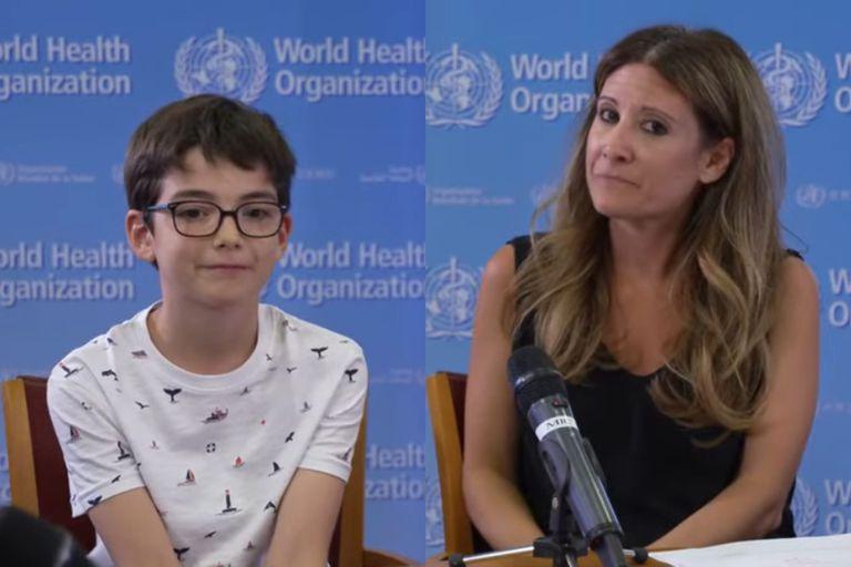 La conmovedora revelación de un niño de 10 años que hizo llorar a una líder de la OMS