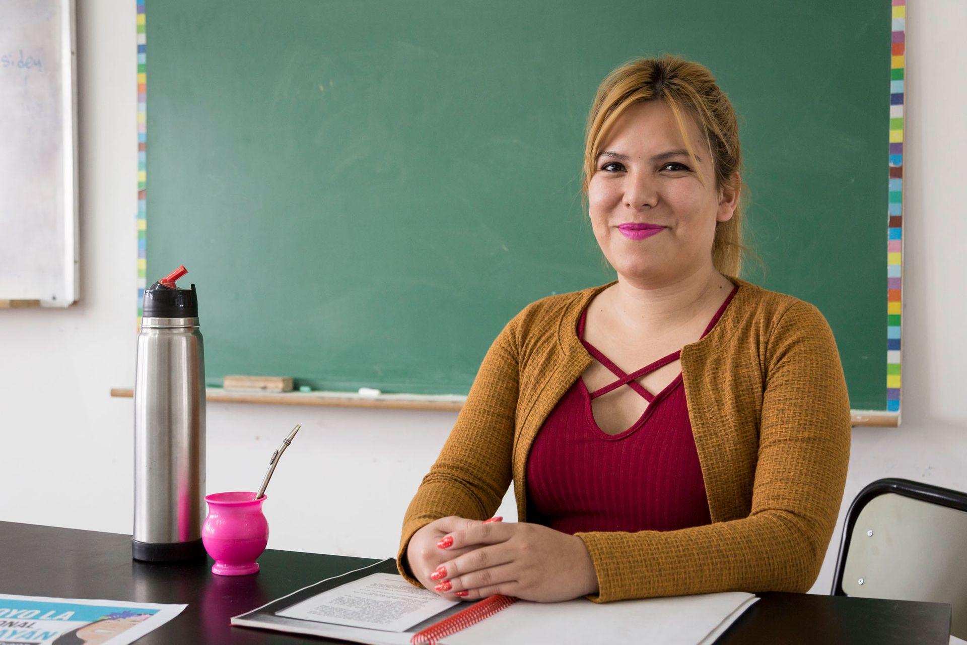 Luli (32) es docente de técnicas de trabajo intelectual, salud y proyectos de formación ocupacional
