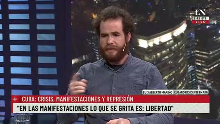 """Es terrible ver políticos que creen que Cuba es un modelo a seguir"" - Mariño, cubano en Argentina."