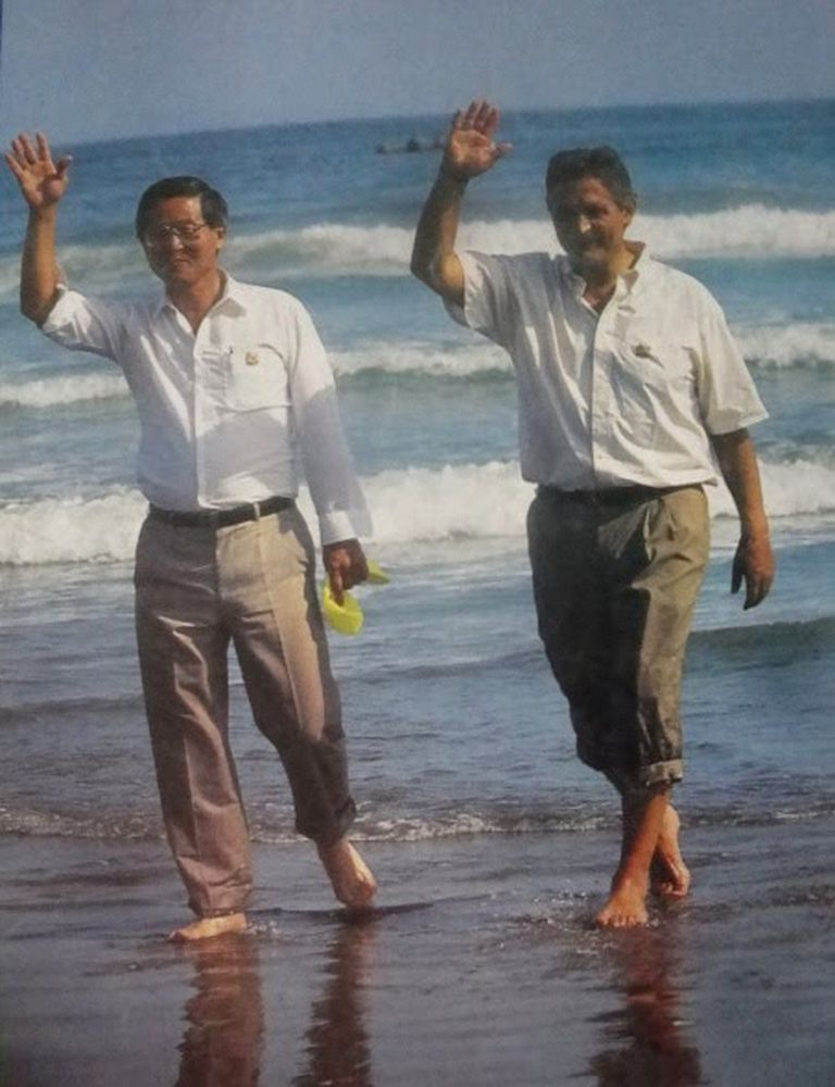 La foto del histórico acuerdo entre Fujimori y Paz Zamora