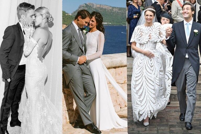 """Hailey Baldwin, Mery Perelló y Olympia von Arco-Zinneberg fueron protagonistas de enlaces que dieron la vuelta al mundo. Conocé todos los detalles de los vestidos que eligieron para decir: """"Sí, quiero"""""""
