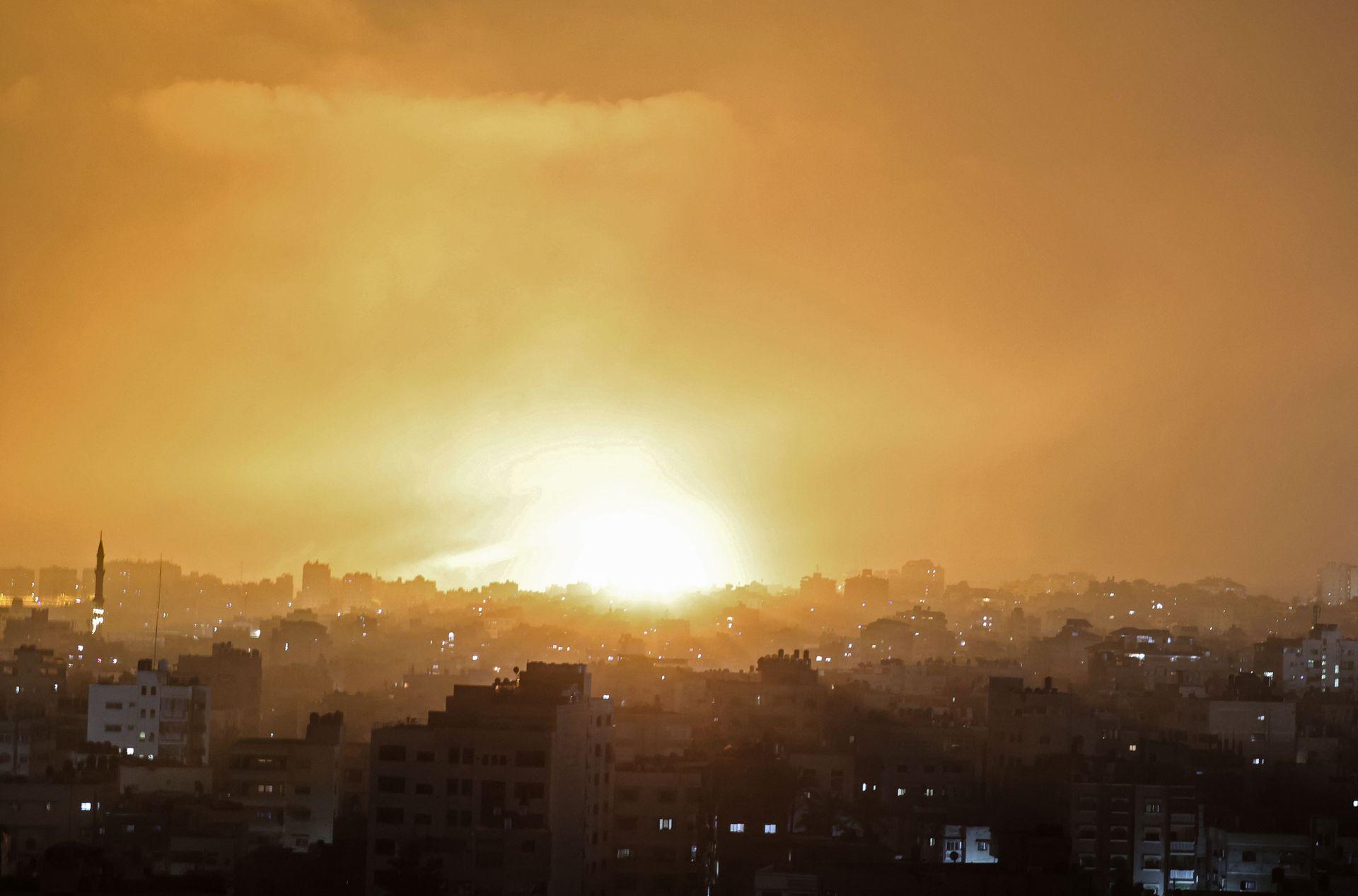 Ataque aéreo sobre Beit Lahia en el norte de Gaza