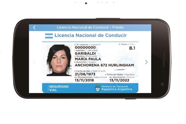 El registro de conducir se podrá descargar en el celular a través de la aplicación Mi Argentina