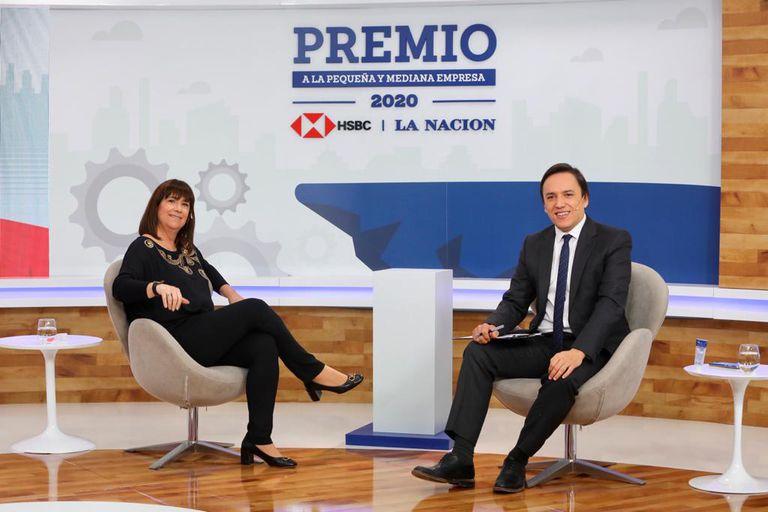 Patricia Bindi, de HSBC, dialoga con José Del Rio, secretario general de Redacción de LA NACION