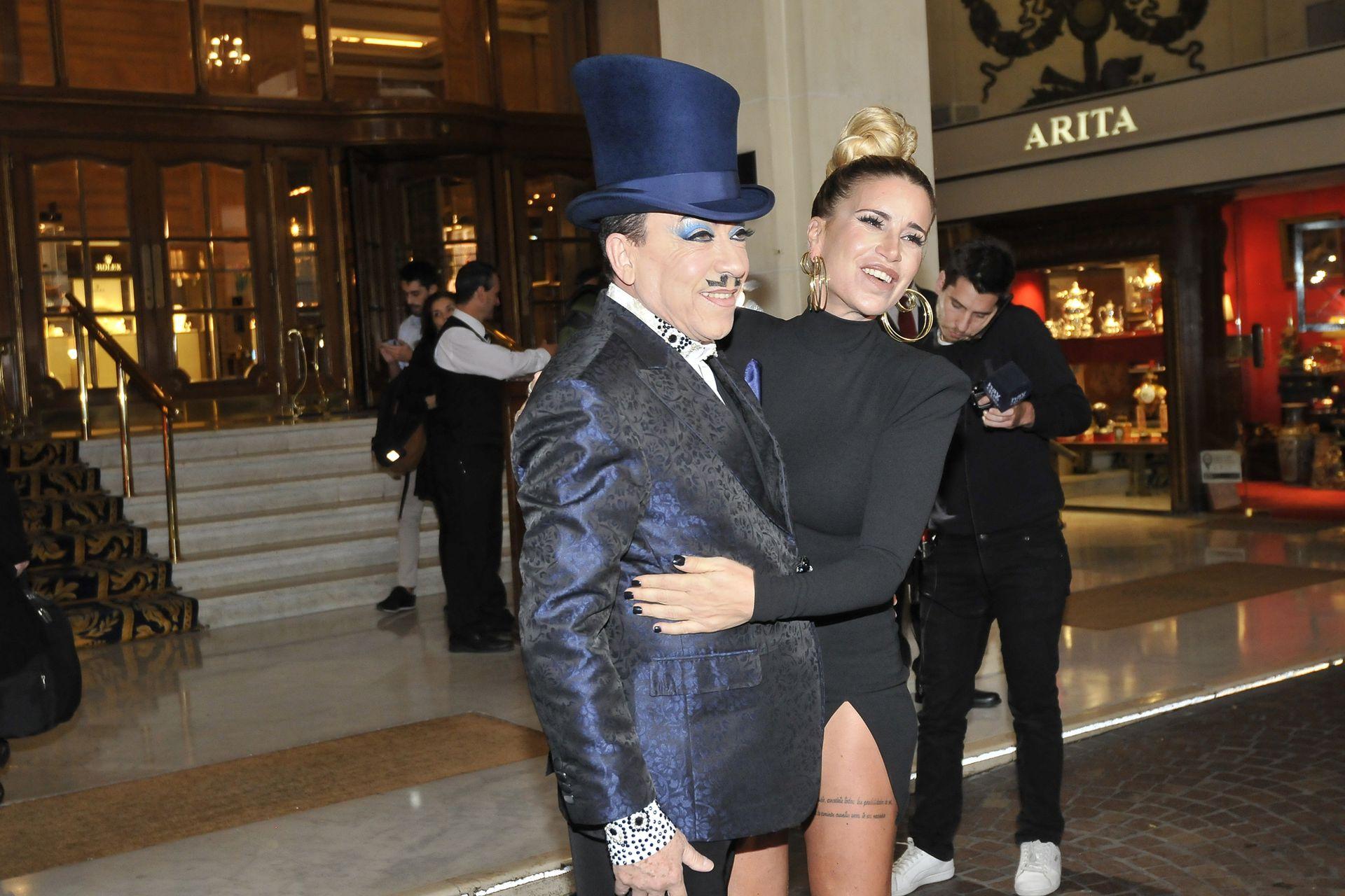 El cariñoso saludo de Florencia Peña a Aníbal Pachano, que retorna al certamen como integrante del BAR