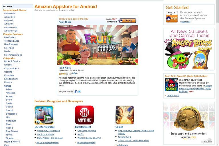 La tienda de aplicaciones de Amazon funciona en cualquier dispositivo con Android
