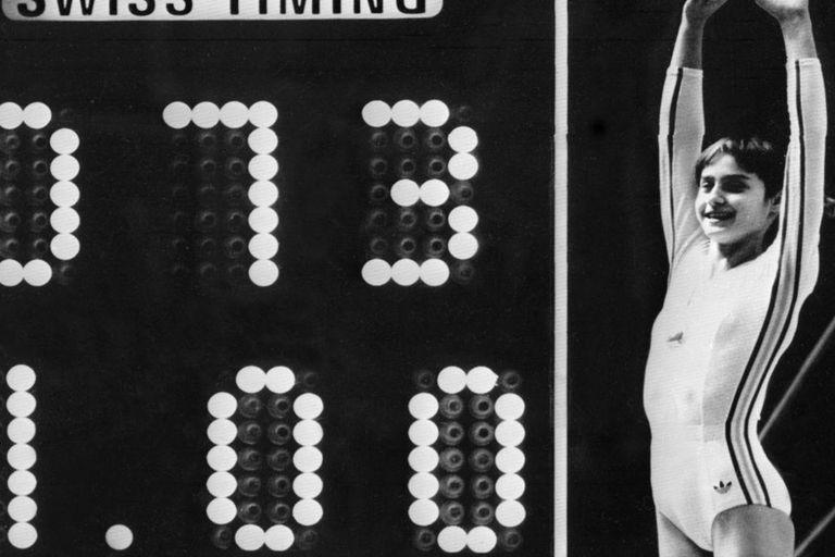 Nadia Comaneci y su 10 perfecto en los Juegos de Montreal 76