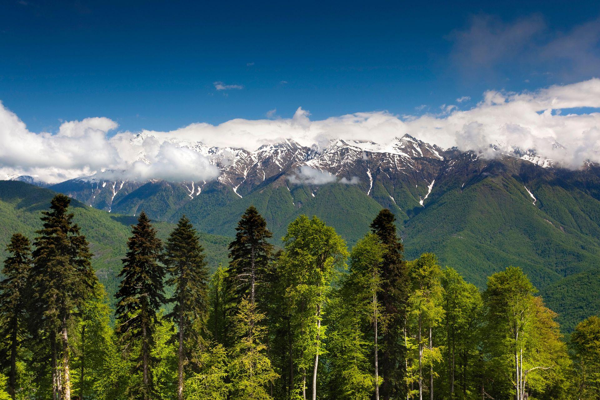 Vista de las imponentes montañas Carousel