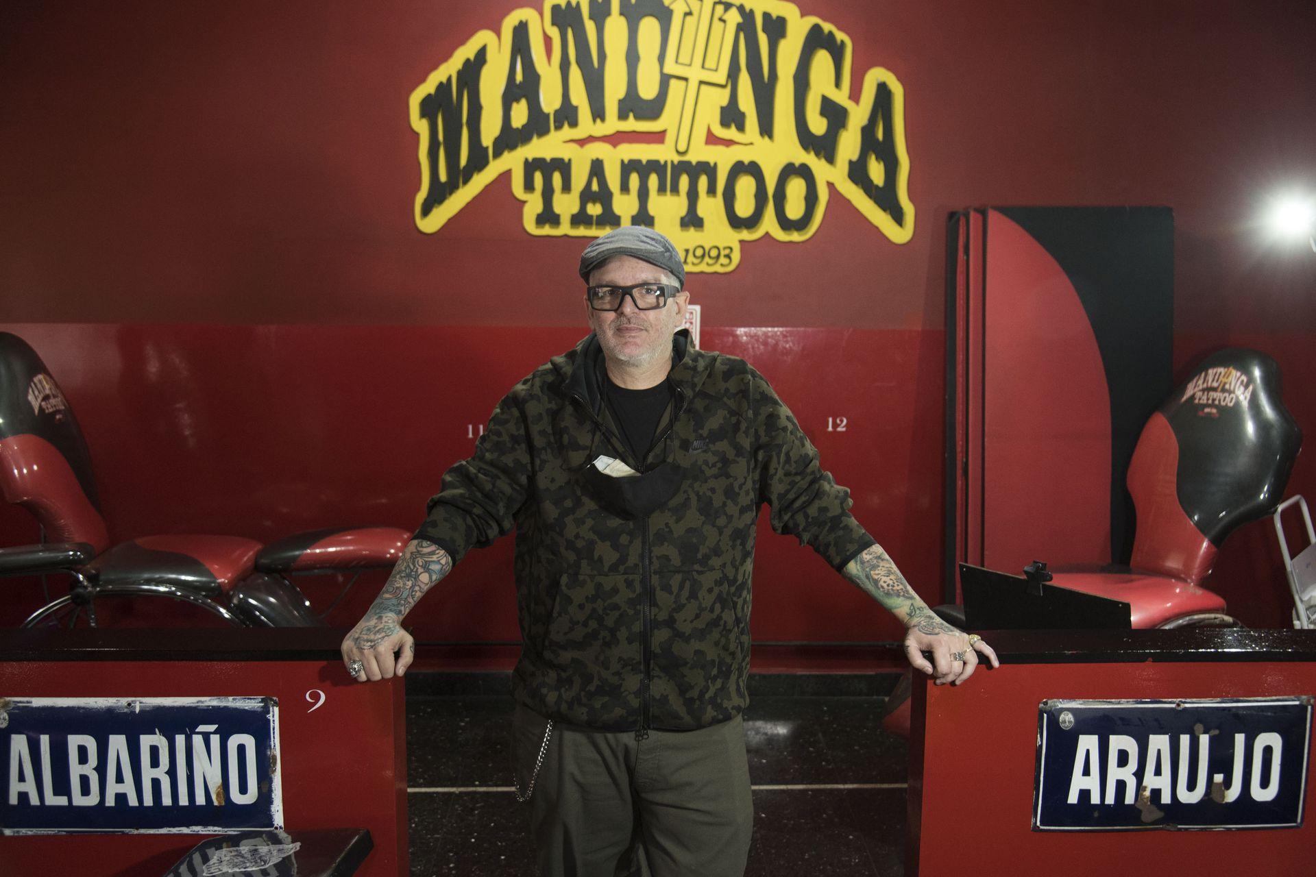 Diego Staropoli, tatuador, dueño de Mandinga Tattoo