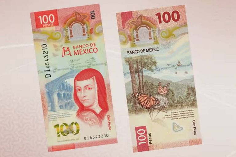 Según anunció la IBNS, el nuevo billete de 100 pesos mexicanos, que tiene la imagen de Sor Juana Inés de la Cruz, fue reconocido como el mejor del 2020