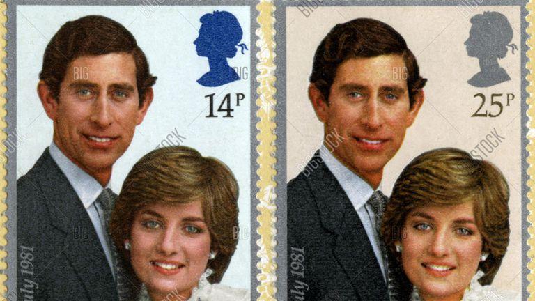 La estampa postal conmemorativa del compromiso real se veía así