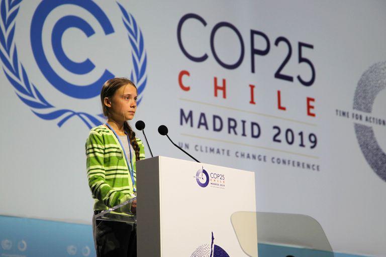 Greta Thunberg hoy en Madrid