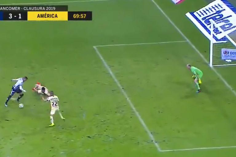 Control, doble enganche y frialdad: Rogelio Funes Mori marcó un golazo