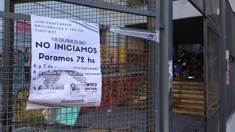 Comenzó el paro docente de dos días en reclamo de una paritaria nacional: en casi todo el país no arrancaron las clases, Escuela n 8 Independencia y Perú