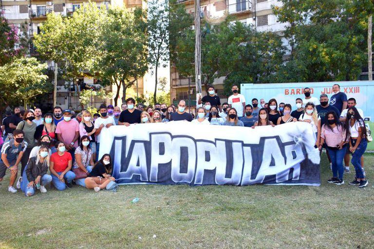 La Popular, durante la marcha por el aniversario del último golpe