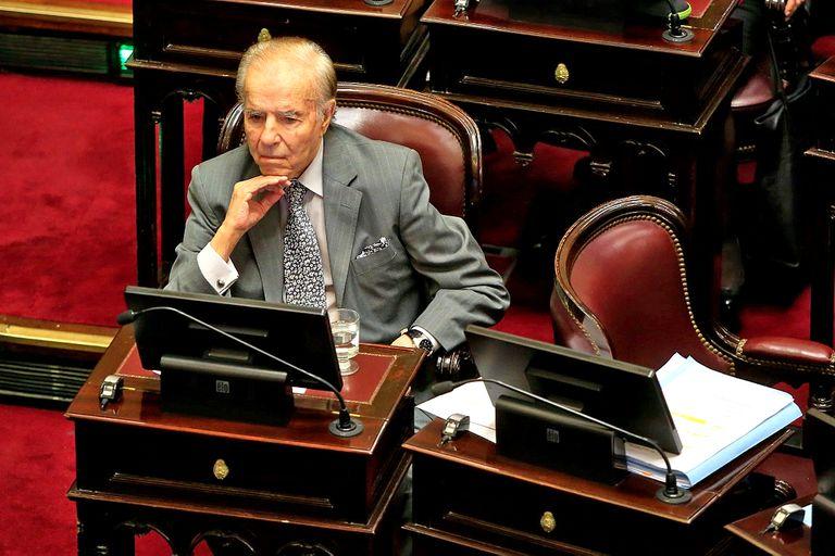 Menem fue presidente entre 1989 y 1999; hoy es senador nacional por el peronismo de La Rioja