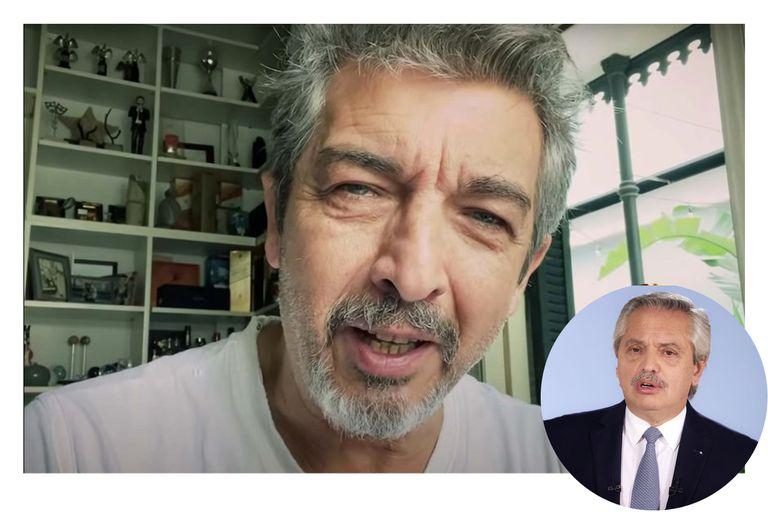 La reacción de Ricardo Darín cuando se enteró en vivo de los dichos de Alberto Fernández