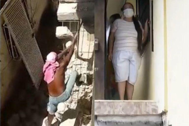 Lleva un año atrapada en su casa porque su vecino le demolió la escalera de ingreso