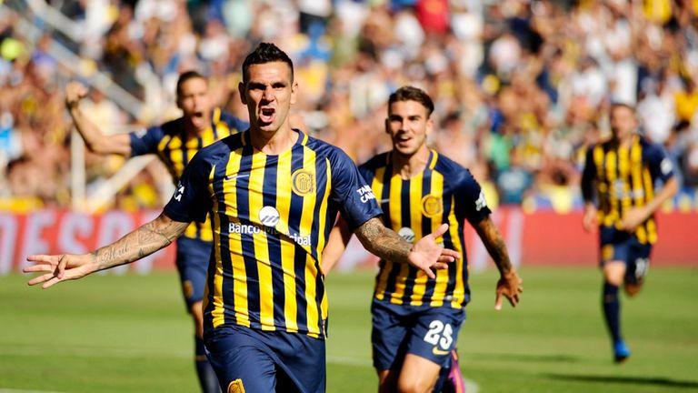 Herrera celebra su gol ante Newells