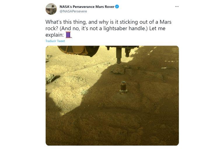 Una de las imágenes más destacadas de la semana fue la que tomó la misión del rover Perseverance sobre la superficie de Marte y que la NASA publicó en las redes sociales