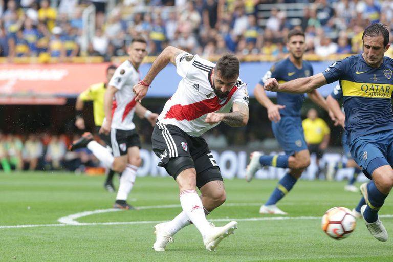 Pratto pone el partido 1 a 1 contra Boca por la primera final de la Copa Libertadores 2018