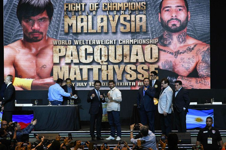 En Manila se presentó el combate entre Matthysse y Pacquiao