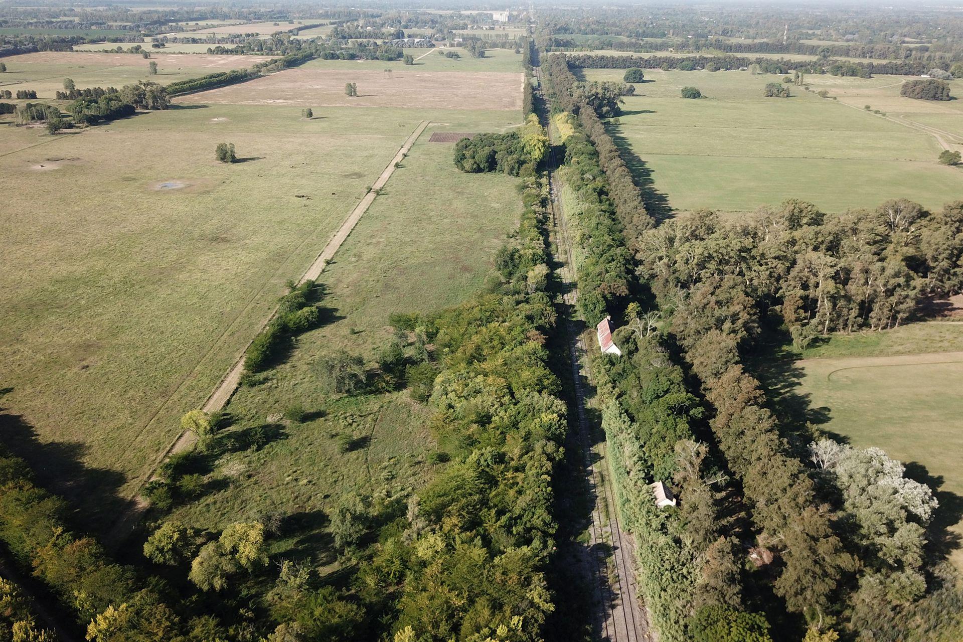 Desde el aire, así se ve el terreno que usarían para hacer el relleno sanitario.
