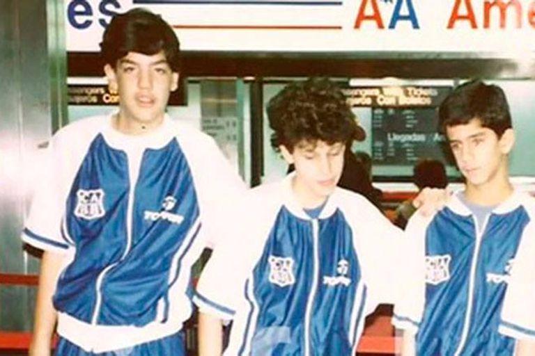 Desde muy chico, Luis Scola, con los colores de la selección nacional