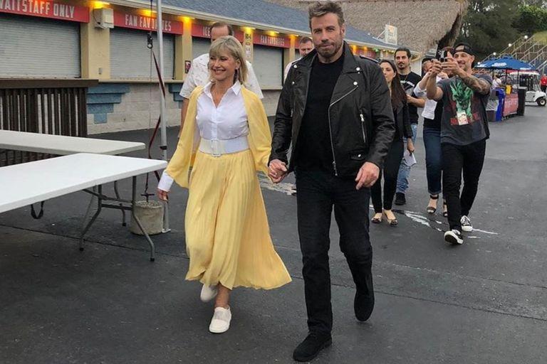 John Travolta y Olivia Newton-John recordaron Grease, 40 años después