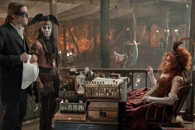 Hammer, Depp y Helena Bonham-Carter en El llanero solitario