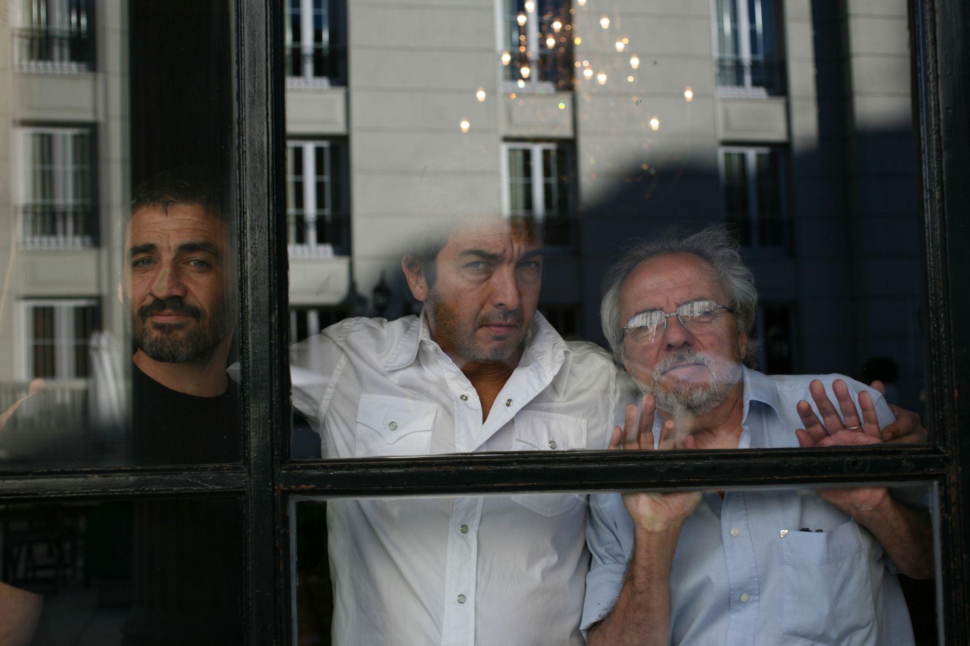 Germán Palacios, Ricardo Darín y José Luis Mazza, en 2007