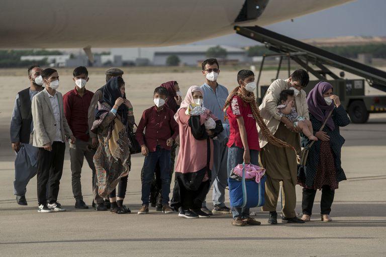 23-08-2021 Refugiados afganos a su llegada a España. POLITICA A. Pérez Meca - Europa Press