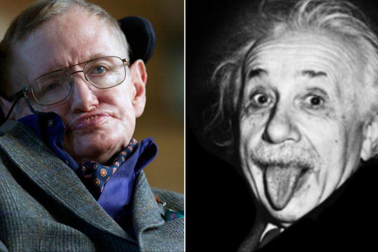 Dos de las grandes figuras en la historia de la ciencia: Stephen Hawking y Albert Einstein. Fuente: El Español.